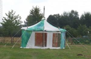 groene Ronde tent 4,5 meter